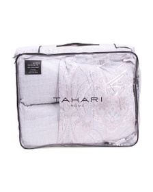 TAHARI 6pc Safir Sateen Comforter Set