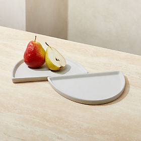 Crate Barrel Split Platter, Set of 2