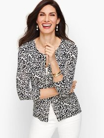 Talbots Charming Cardigan - Abstract Floral