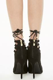 Forever21 Faux Suede Lace-Up High Heels