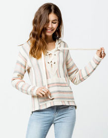 RIP CURL My Tide Off White Womens Poncho Top_