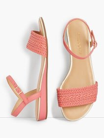Talbots Daisy Micro-Wedge Sandals - Braided Solid