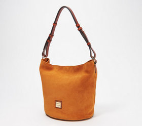 """As Is"" Dooney & Bourke Suede Feed Bag - Thea - A3"
