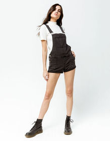 RSQ Denim Black Womens Shortalls_