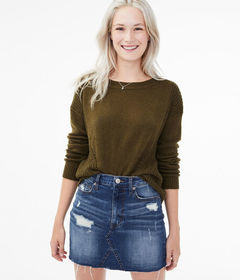 Aeropostale Pointelle Mix Sweater