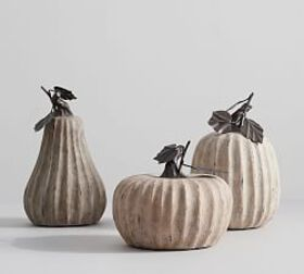 Pottery Barn Weathered Stone Pumpkins