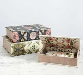 Pottery Barn Conservatory Boxes - Set of 3