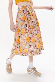 UO Penny Belted Midi Skirt