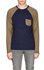 Barneys New York Colorblocked Jersey Baseball T-Sh