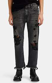 R13 Sid Distressed Straight Jeans