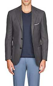 Piattelli Basket-Weave Two-Button Sportcoat