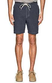 Max 'n Chester Spencer Striped Cotton Shorts