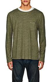 Barneys New York Heathered Linen-Blend T-Shirt