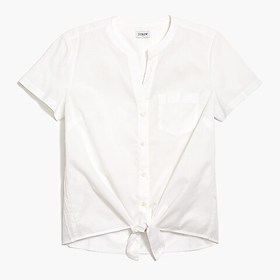 J. Crew Factory Tie-front button-up shirt