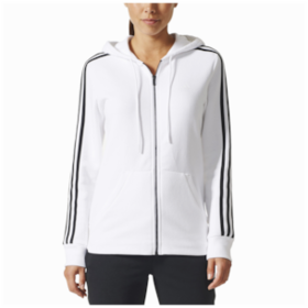 adidas Athletics 3-Stripes Cotton Full-Zip Hoodie