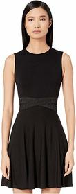 Versace Collection Jersey Mini Taping Detail Dress