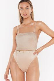 Nasty Gal Womens Stone Sunny Side Up Faux Suede Sq