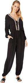 BCBGeneration Lace-Up Balloon Jumpsuit TFW9214995
