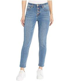 UNIONBAY Zadie Exposed Button High-Rise Jeans in R