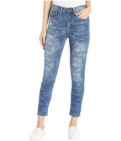 UNIONBAY Zadie Exposed Button Camo High-Rise Jeans