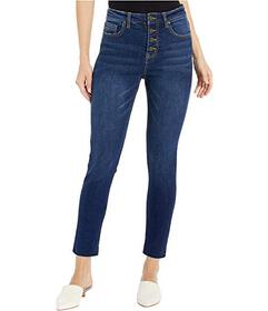 UNIONBAY Zadie Exposed Button High-Rise Jeans in L