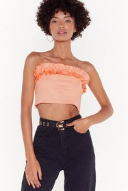 Nasty Gal Womens Coral Tier Comes Revenge Ruffle C