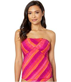 LAUREN Ralph Lauren Painted Stripe Draped Bandini