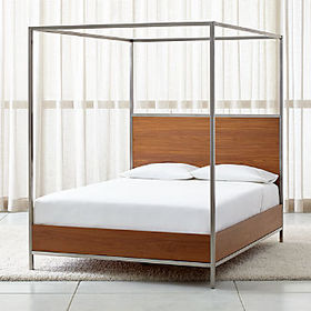 Crate Barrel James Walnut with Stainless Steel Fra