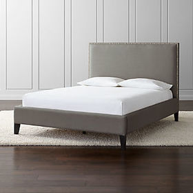 Crate Barrel Cole Upholstered Bed