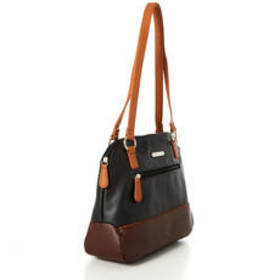 Stone Mountain Pebble Erica Tote - Black/Brown