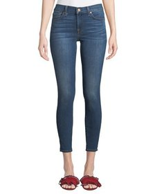7 For All Mankind Gwenevere Knee-Hole Skinny Ankle