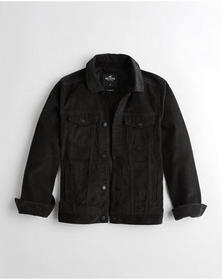 Hollister Corduroy Trucker Jacket, BLACK