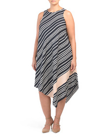 RACHEL RACHEL ROY Plus Stripe Sunset Midi Dress