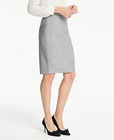 Petite Crosshatch Pencil Skirt