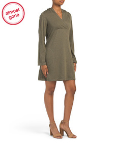 MAX STUDIO Hooded French Terry Dress