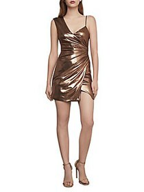 BCBGMAXAZRIA One-Shoulder Cocktail Mini Dress ROSE