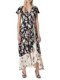 French Connection Aletta Crepe Floral Surplice Max