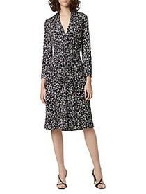 French Connection Printed Angelina Crepe Dress BLA