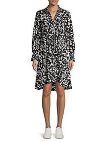 French Connection Bruna Light Floral Belted Shirtd