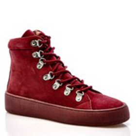 Womens Nubuck Lace-Up Platform Comfort Booties