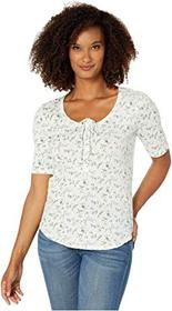 Lucky Brand 1/2 Sleeve Floral Top