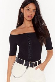 Nasty Gal Womens Black For Your Eyes Only Off-the-