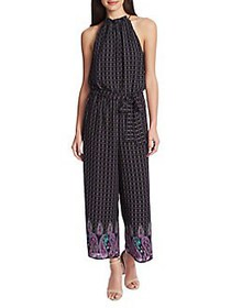 CeCe by Cynthia Steffe Mosaic Paisley Jumpsuit RIC