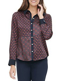 Tommy Hilfiger Printed Button-Front Shirt MIDNIGHT