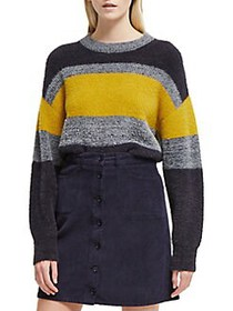 French Connection Rufina Colorblock Sweater CITRUS