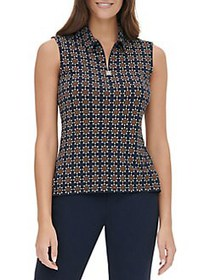 Tommy Hilfiger Printed Sleeveless Top MIDNIGHT MUL