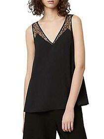 French Connection Sleeveless Crepe Top BLACK
