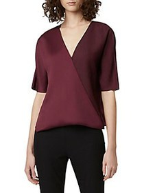 French Connection Alessia Crepe Top BERRY BLUSH