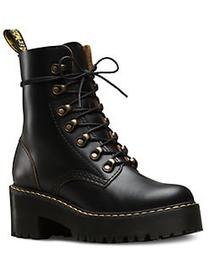 Dr. Martens Sanguine Leona Leather Booties BLACK