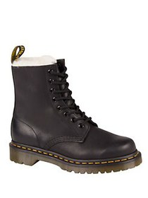 Dr. Martens Serene Leather and Faux Fur Lace-Up Bo